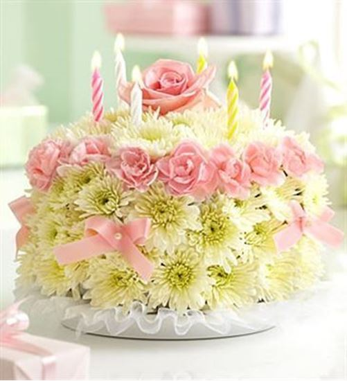 Picture of Flower Birthday Cake