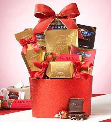Picture of Valentine's Day Chocolate Gift Basket